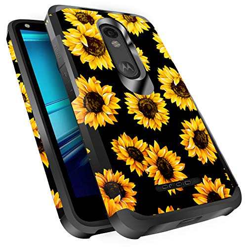Droid Turbo 2 Case, Miss Arts Slim Anti-Scratch Protective Kit with [Drop Protection] Dual Layer Hybrid Protective Cover Case for Verizon Motorola Droid Turbo 2 -Sunflower/Black
