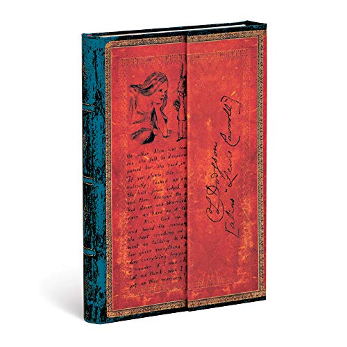 Paperblanks Hardcover Journals Lewis Carroll, Alicia en el país de las Maravillas | Liso | Mini (100 × 140 mm) (Embellished Manuscripts Collec)