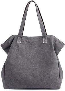 حقيبة يد - حقيبة يد صغيرة ذات سعة كبيرة، حقيبة قماش بوليستر مقاومة للتآكل، حقيبة ظهر نسائية أنيقة رمادية (36 سم × 38 سم × ...