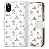 DeinDesign Étui Compatible avec Apple iPhone X Étui Folio Étui magnétique Winnie l'ourson Disney...