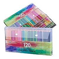 水彩鉛筆セット 120本セット プロフェッショナル 水彩ペン ブラシ付き 大人アーティスト水性鉛筆 ペイント/カラーリング/ミックス/レイヤリングに最適 色鉛筆