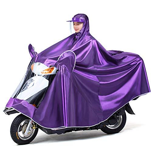 Universele regenponcho, extra grote verlengde scootmobiel Motorrijden Regenhoes voor cape - volledige bescherming met vizier, veilig doorzichtig paneel, reflecterend