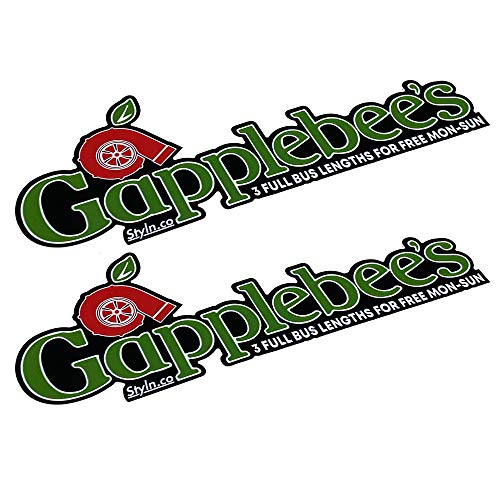 "GAPPLEBEES Slap Sticker (2) CAR Truck Vinyl Sticker Decal Racing 7"""