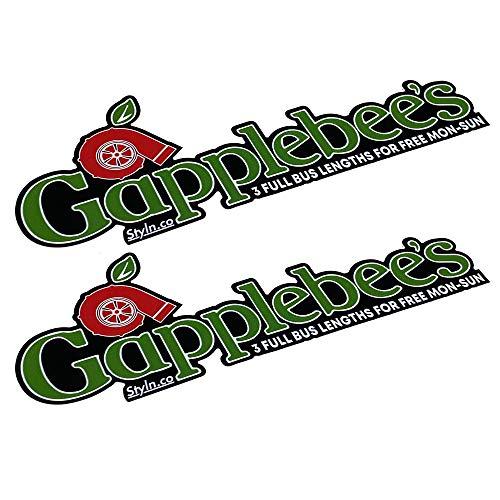 GAPPLEBEES Slap Sticker (2) CAR Truck Vinyl Sticker Decal Racing 7'