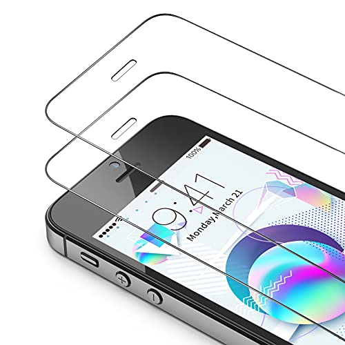 Bewahly Panzerglas Schutzfolie für iPhone SE [3 Stück], 9H Härte Panzerglasfolie HD Folie 0.25mm Ultra Dünn Displayschutzfolie Full Screen für iPhone SE/5S/5C/5