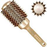 Spazzola rotonda 53mm, SUPRENT spazzole per capelli con setole di cinghiale naturale,spazzola per capelli rotonda per asciugatura, arricciatura e stiratura
