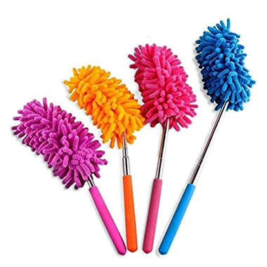 Powertiger Telescoping Microfiber Duster Extendable 11-30 inch Cleaning Dust Home Office Car Tool Detachable (4 Pack)