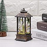 LANSKIRT Farolillos Decorativos de Navidad, Resistentes Al Viento, Lámpara de Jardín Mesa de Llamas de Simulación para Camping Simulación Navidad Luz Decorativa