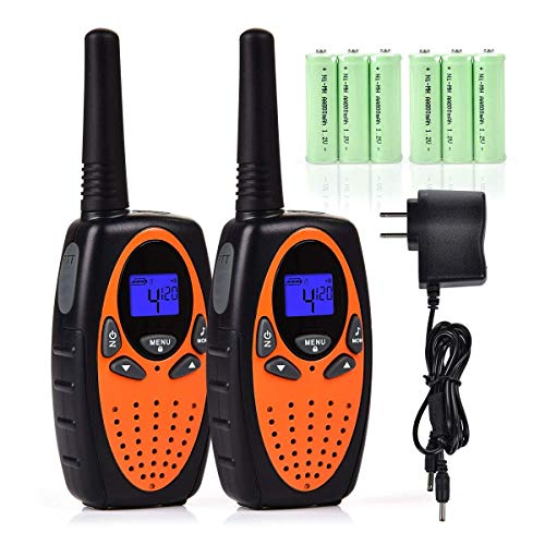 Funkprofi Walkie Talkies for Kids with Rechargeable Batteries and Charger, 22 Channels Long Range Two Way Radio, Best Gift for Boys and Girls, Toys for Outdoor Adventure Camping Hiking Travelling