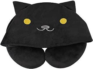 MathewArt Cartoon Cat U-Shaped Plush Soft Pillows Neck Pillow with Hood