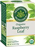 Traditional Medicinals Organic Raspberry Leaf Tea, 16 Count, Pack of 6