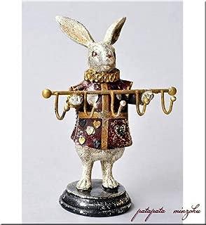 不思議の国のアリス トランプラビット フック パタミン うさぎ ウサギ 兎 ラビット 店舗什器 オブジェ ディスプレイ アンティーク