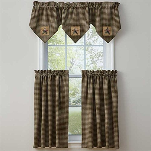 Park Designs Pieced Star Lined Triple Point Valance