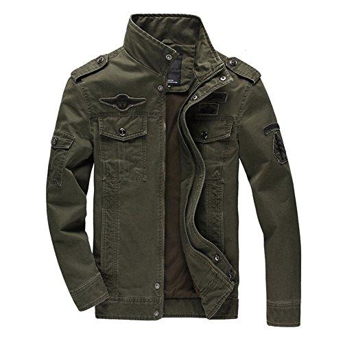 Newbestyle - Chaqueta - para Hombre Ejército Verde Large