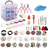 Jewelry Making Kit, 1960 pcs Jewelry Making Supplies Includes Jewelry Beads, Instructions, Findings, Wire for...
