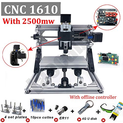 CNC 1610 Mini CNC Engraving Machine with ER11 PCB Milling GRBL Control CNC Router 3 CPB Axis Wooden...