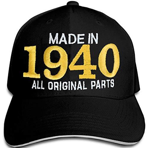 Bestickter Hut zum 80-jährigen Geburtstag Made in 1940 All original Parts