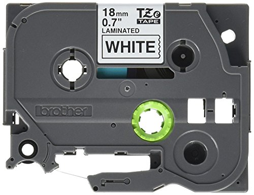 """GREENCYCLE Compatible for Brother TZe-221 TZe221 TZ221 TZ-221 AZE Tape 9mm 0.35 Inch 3/8"""" Black on White Laminated Label Tape for Ptouch PTD210 PT-H100 PTH110 PT-D400AD PTD600 PT-1290, 1 Pack"""