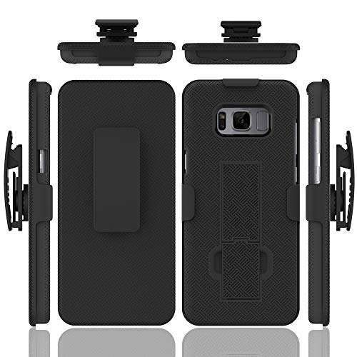 Galaxy S8 Plus Case, HLCT Slim Holster Combo Case with Stand Kickstand and Swivel Belt Clip for Samsung Galaxy S8 Plus