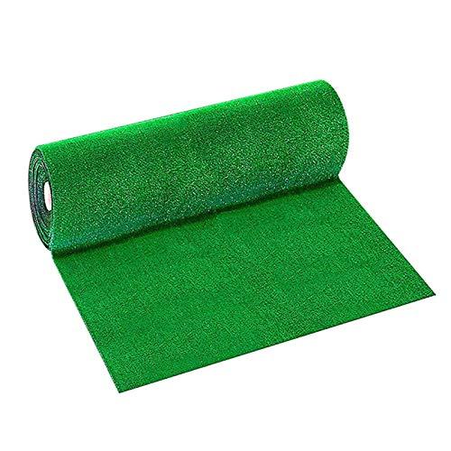 NRRN Tappeto da esterno in erba sintetica deluxe sintetico, per animali domestici, prato artificiale realistico, pelo spesso, per interni ed esterni, facile da pulire con fori di drenaggio