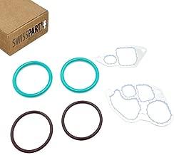 Oil Cooler Gasket Seal O-ring Kit for Ford F250 F350 F450 F550 E350 E450 E550 1994-2003 Super Duty 7.3L Powerstroke Diesel