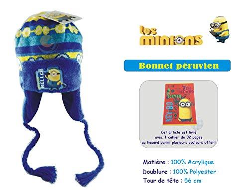 Offre Lagiwa - MINION - Bonnet péruvien pour garçon - Couleur et Taille au choix avec 1 cadeau bonus offert (Jaune, 56)
