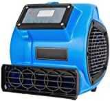 LLDKA Calentadores de Ropa 3 3 Posiciones Velocidad La Alfombra mojada/Ventilador Utilidad/Secadora/Ventilador para la Alfombra húmeda, Suelos Paredes,Azul
