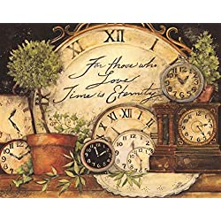 Jigsaw Puzzles 1500 Pieces for Adults - Oil Painting Clock - Wooden Puzzle Toys Home Decor