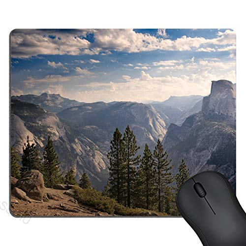 SSOIU Cute Gaming Mouse Pad Custom Design, Half Dome Mountain Scenery Mouse Pads