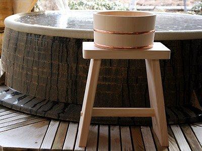木曽ひのき 風呂椅子(腰高)・風呂桶セット