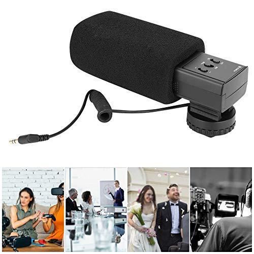 Microfoon op camera, volledig metalen behuizing Professionele fotografiecamera Externe condensatormicrofoon X-Y standaard stereogeluidsopname voor VLOG, live, interview, enz