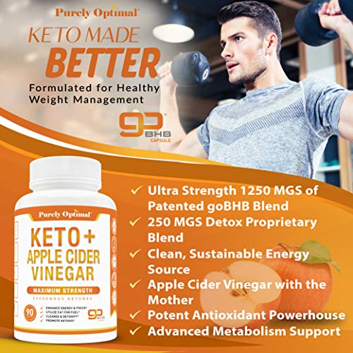 Premium Keto Pills + Apple Cider Vinegar Capsules with Mother - Utilize Fat for Energy with Ketosis, Boost Energy & Focus, Manage Cravings, Metabolism Support - BHB Keto Diet Pills for Women, Men 3
