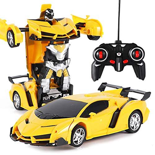 Transformers Roboter-Actionfigur, Ferngesteuertes Auto Kinder Spielzeug Transform Roboter RC Car Junge Mädchen Doppelmodi 360 ° Rotation Stunt Auto Fahrzeuge Spiele Indoor Geschenke Auto Spiel