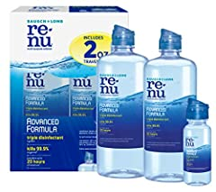 Our newest contact lens innovation, this multi-purpose solution has a triple disinfectant that works in only 4 hours to kill 99.9% of germs Renu multipurpose contact lens solution can Be used daily to clean your lenses, store them in a contact lens c...