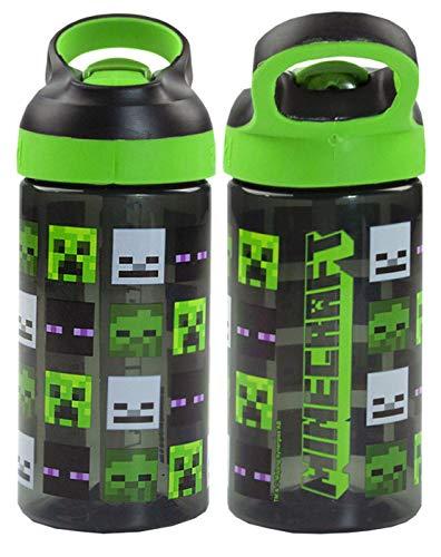 Minecraft Creeper und Zombie Steve 16oz / 473ml Wiederverwendbare Sportflasche