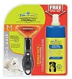 Furminator deshedding de Cuidado de Herramientas (para langhaarige Medianas Perros, Tamaño M, con Gratis Anti de Pelo Secar Spray)