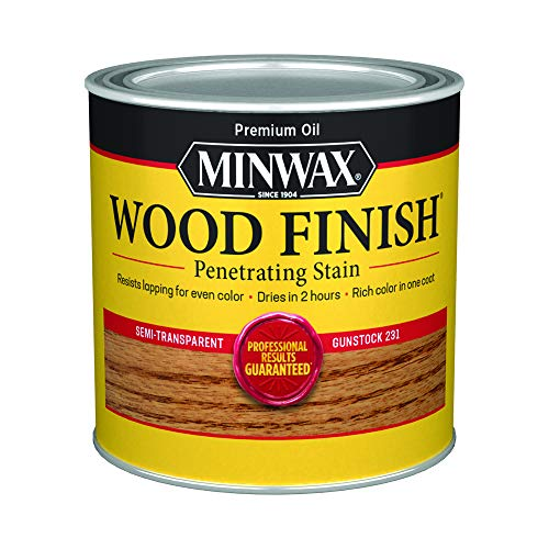Minwax 223104444 Wood Finish Penetrating Interior Wood Stain, 1/2 pint, Gunstock