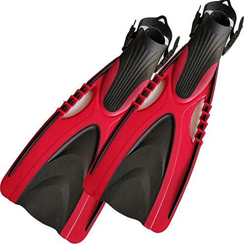 NXYJD Aletas de Buceo Aletas de tacón de Aletas con Correa Ajustable para Equipos para Flipper de natación Adulta (Color : Red, Size : Small-S/Medium-M)