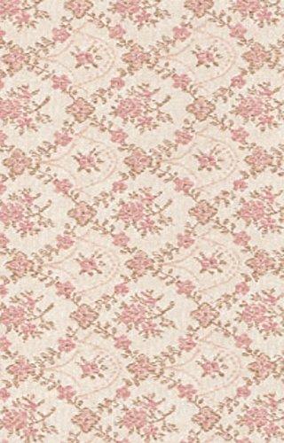 i.stHOME Klebefolie Möbelfolie Biedermeier Blumenranken rosa - Dekofolie Möbel Vintage Rosen...