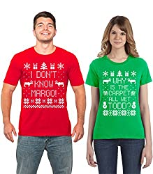 Couples Ugly Christmas Sweater Ideas. Christmas Vacation Margot and Todd