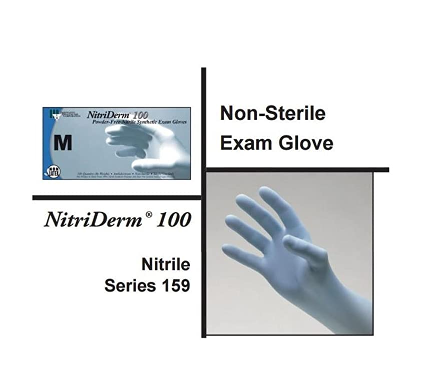 Innovative Healthcare 159300 NitriDerm 100 Series 159 Powder-Free Nitrile Synthetic Non-Sterile Exam Glove, Large, Clear (Pack of 1000)