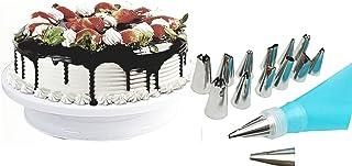 Hi-Range Cake Decorating Supplies 36 pcs.Cake Decorating Kit with 28cm Cake Rotating Turntable Piping Nozzles, Pastry Bag,...