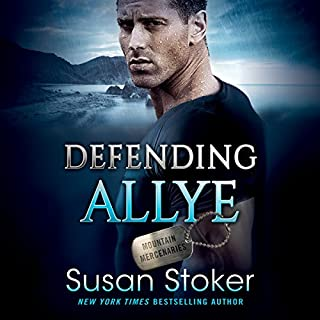 Defending Allye     Mountain Mercenaries Series, Book 1              By:                                                                                                                                 Susan Stoker                               Narrated by:                                                                                                                                 Stella Bloom                      Length: 8 hrs and 17 mins     33 ratings     Overall 4.7