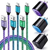 Wall Charger Plug 3 Pack, Type C Charger Cable 3 Pack 6FT Compatible for Motorola Moto G Fast/G Power/G Stylus/G Pro/G Play, Edge+, G10 G9 G8 G7 Power Plus Play, G6 Plus E7 X4 Z Z2 Z3 Z4 Play G7 Supra