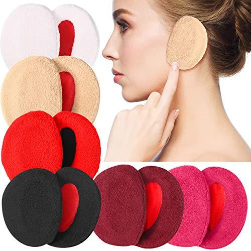 6 Paar Ohrenschützer Bandlos Vlies Ohrenwärmer Outdoor Ohrenschützer Unisex, 6 Farben (Unterschiedliche Farben)