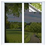 9. RTTECH Window Film Privacy One Way Mirror Window Tint for Home Sun UV Blocking Heat Control Daytime Privacy Solar Film Static Cling for Residential Office 17.5x78.8 Inches Black-Silver