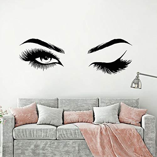 Ojos pestañas vinilo etiqueta de la pared Sexy guiño familia inspiradora etiqueta de la pared