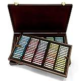 Rembrandt Soft Pastel Wood Box Master Set, 150-Piece Sticks, General Selection