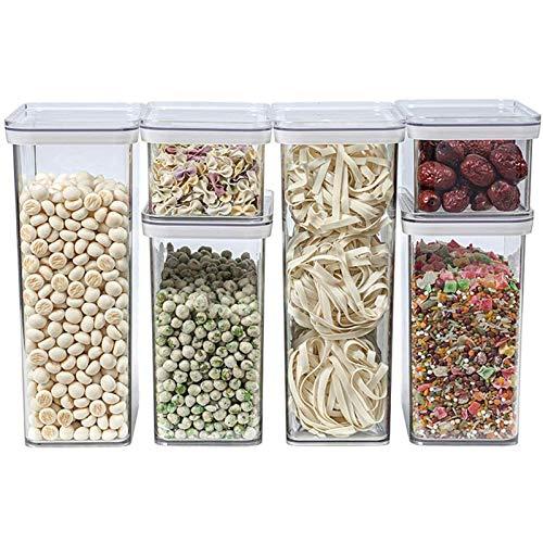 YJHH Stapelbare Vorratsdosen, Container Aufbewahrungsbox, Vorratsgläser Luftdicht Transparent Wasserdicht Grosse Kapazität Stapelbar Langlebiger Für Obst Gemüse Fleisch Ei
