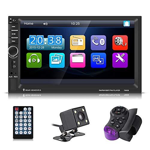 Autoestereo pantalla de 7 pulgadas, Pantalla táctil de 7 pulgadas HD Bluetooth Reproductor MP5 para…
